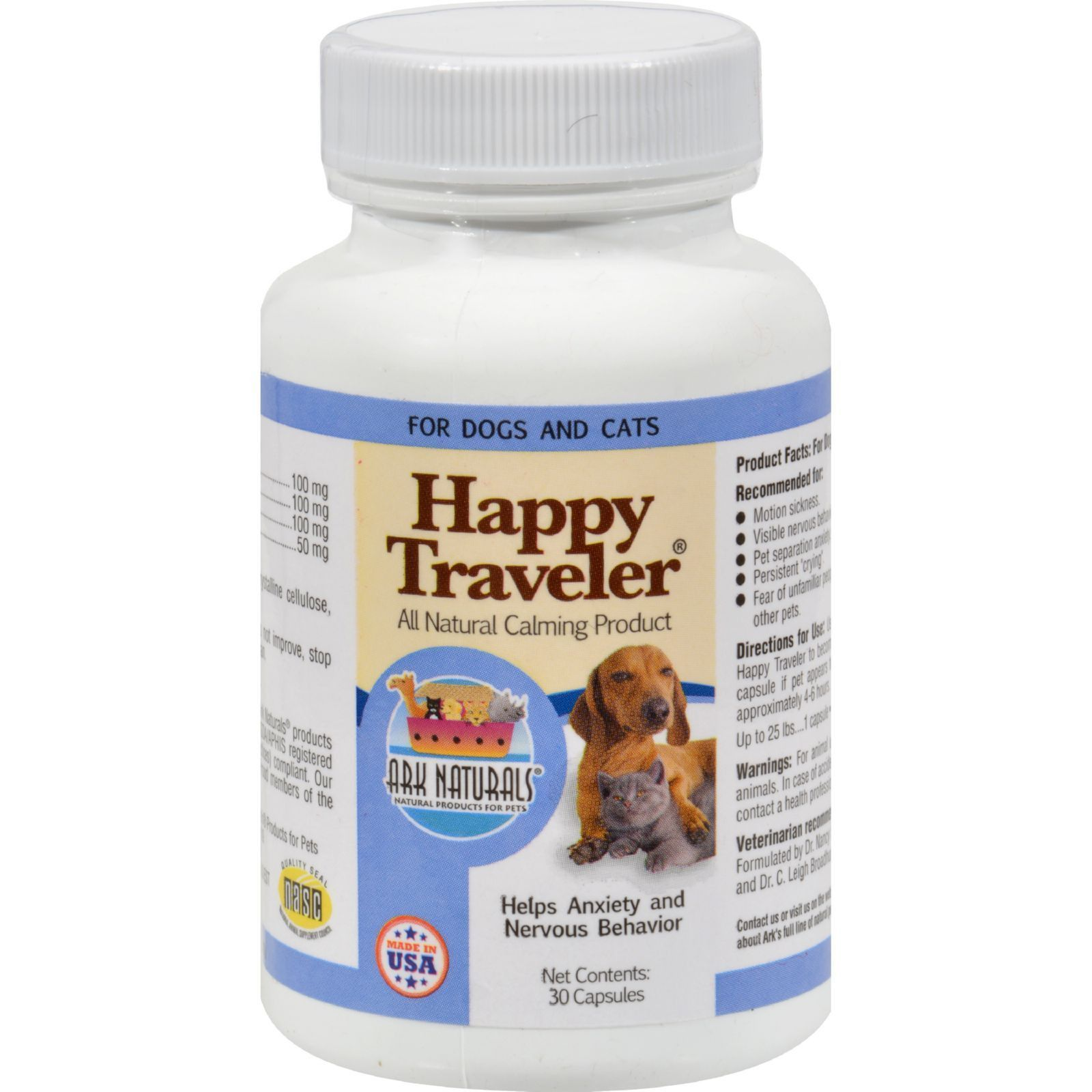 Ark naturals happy traveler for dogs and cats 30