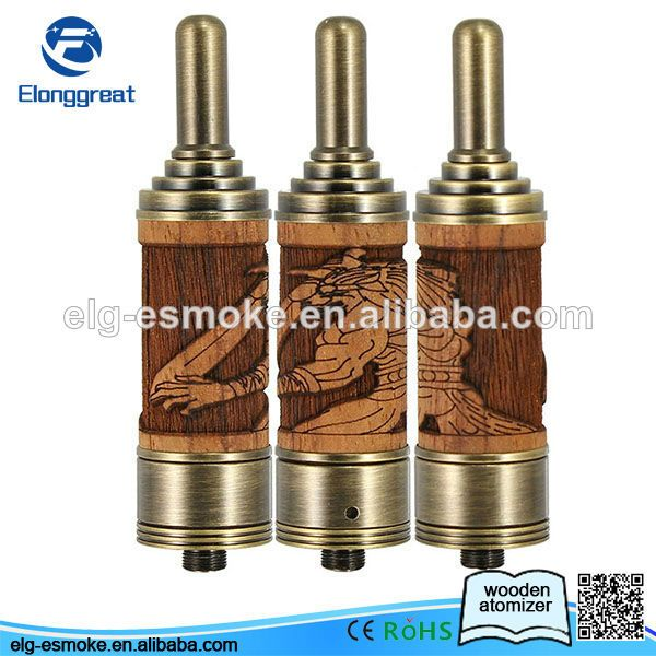 2014 China Newest Arrival unique wooden design e cigarette wooden atomizer