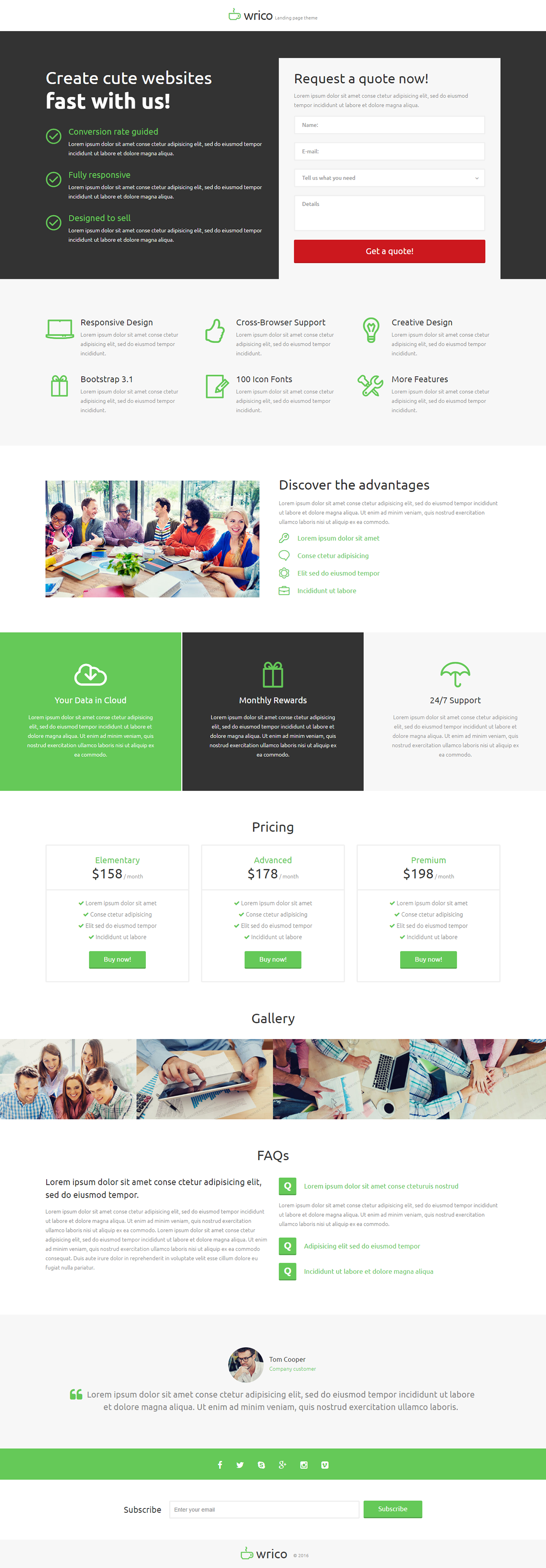 Design Bureau Landing Page Template on Behance | Landing Page ...