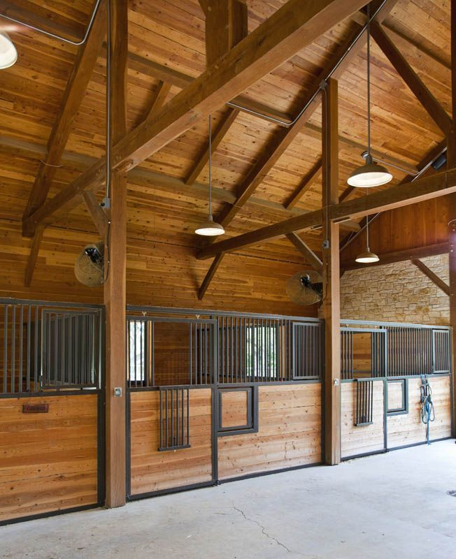 I Like The Overhead Lighting Horse Barn Ideas Found On Texastimberframes