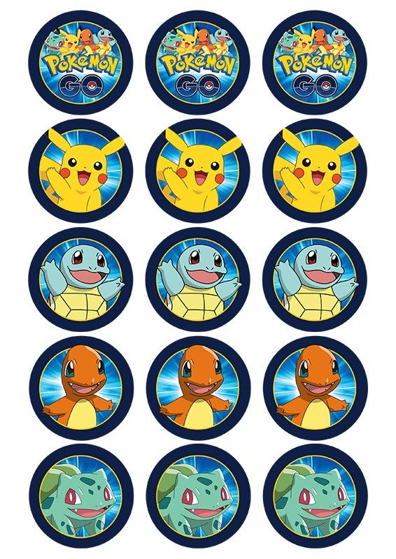 graphic relating to Pokemon Cupcake Toppers Printable titled Pin by way of Cunning Annabelle upon Pokemon Printables Pokemon