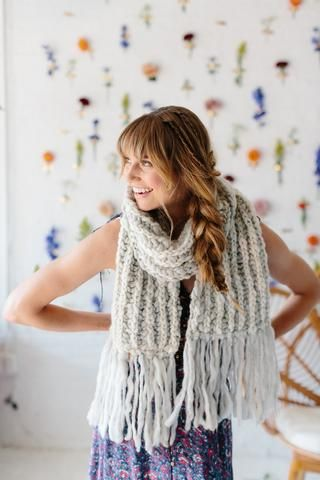 The Joie Brioche Scarf by Knit Collage ~ gorgeous, bulky knit scarf ...