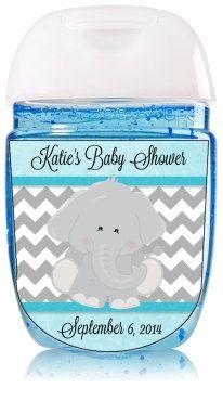 Custom Baby Shower Elephant Hand Sanitizer By Mybabiesbreath