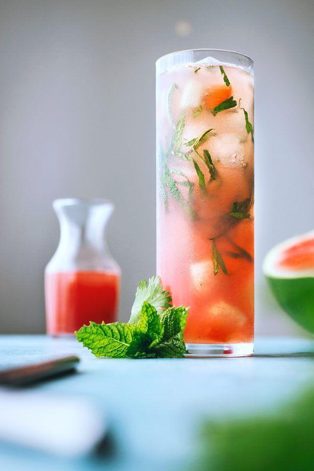 Watermelon, Fresh Herbs, & Sotol Cocktail