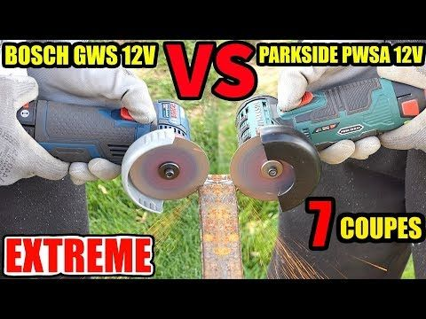 Parkside Pwsa 12v Versus Bosch Gws 12v 76 Professionnal Meuleuse D Angle Youtube Bosch Angle Grinder Multipurpose Tools