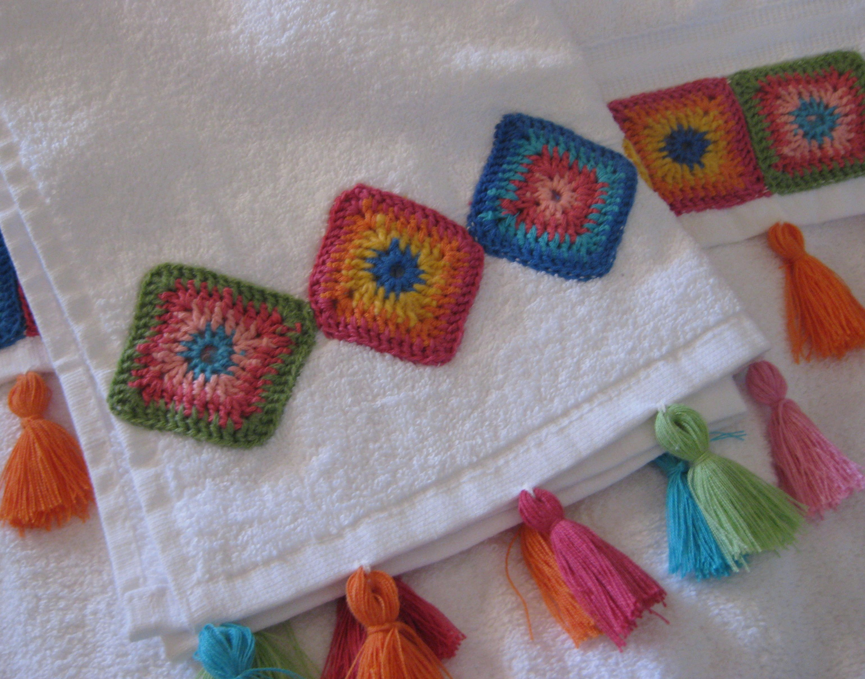 motivos geomètricos | Tela y Crochet | Pinterest | Toallas ...