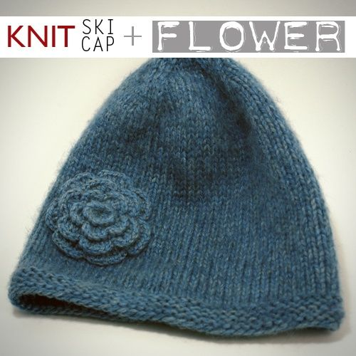 Cool Flower Embellished Knit Hat Pattern Free Diy Ideas