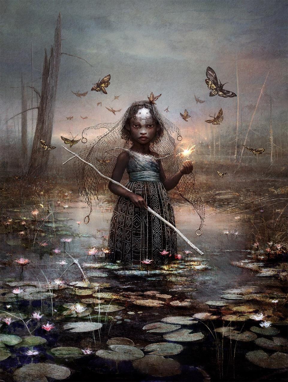 Aminatou The Fateshifter Commander 2018 Mtg Art 人物 イラスト