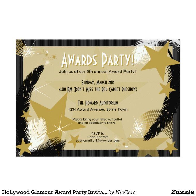 Hollywood Glamour Award Party Invitation | Winter Reception 2016 ...