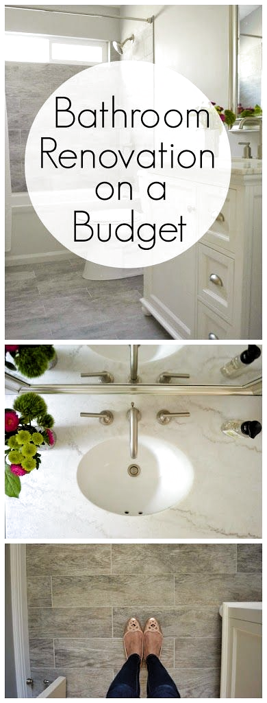 Want to know how to renovate a small bathroom on a budget? I got a clean designe...#bathroom #budget #clean #designe #renovate #small