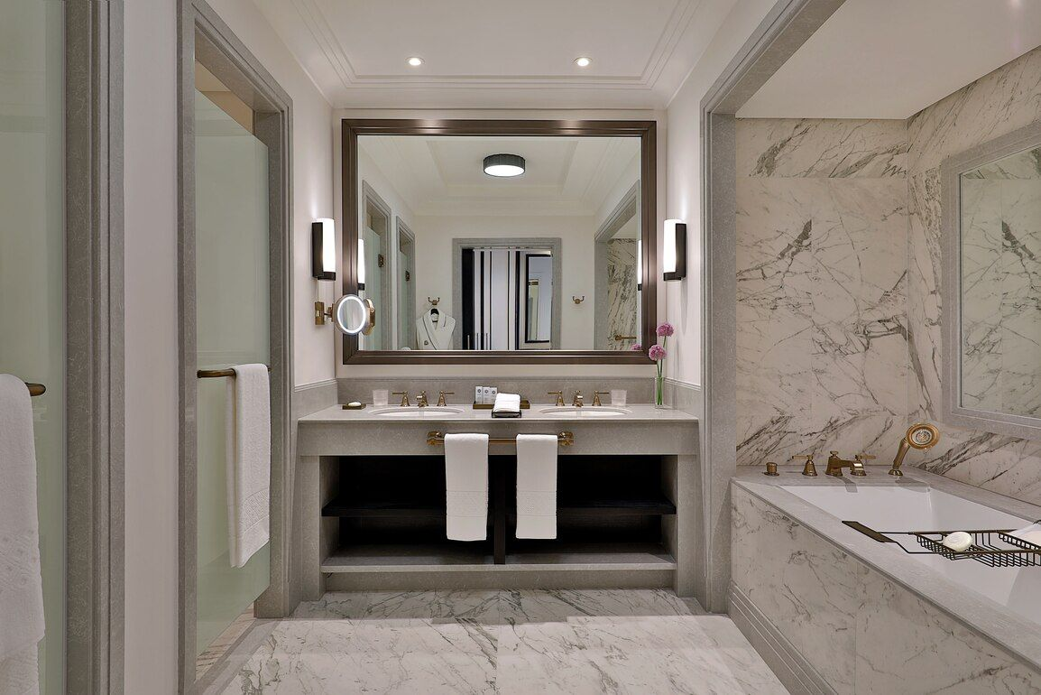 The St Regis Amman Bathroom Design Spacious Living Room Beach Bathrooms