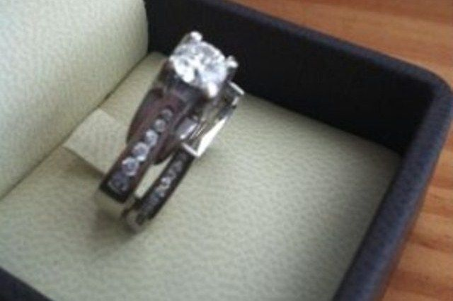14kt white gold diamond ladies engagement ring set used engagement rings sell engagement rings - Preowned Wedding Rings