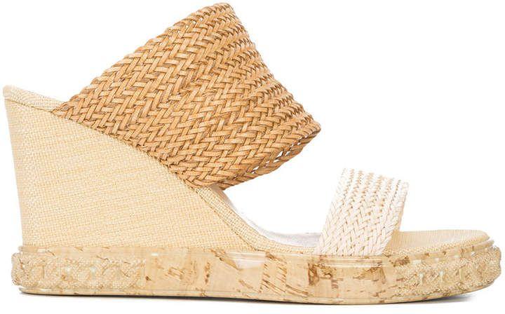 6b0271808e5 Casadei woven wedge sandals