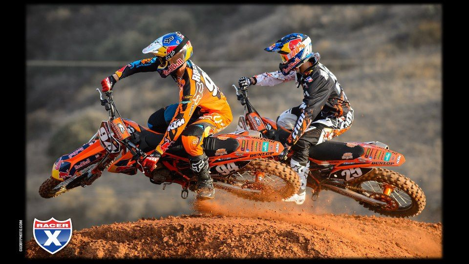 Ken Roczen and Marvin Musquin getting ready for 2013