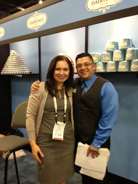 We love seeing some of our favorite people at Natural Products Expo West. Here's Oksana with Adrian from GES Services.
