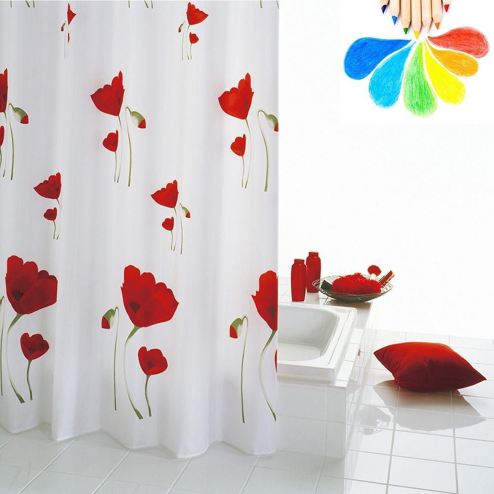 Red Flower Shower Curtain   Shower Curtain   Pinterest   Flower ...