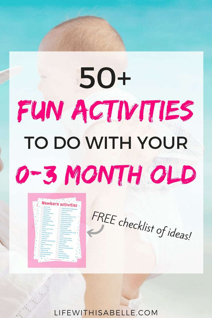 50+ things to do with your 0-3 month old baby #sensorythings