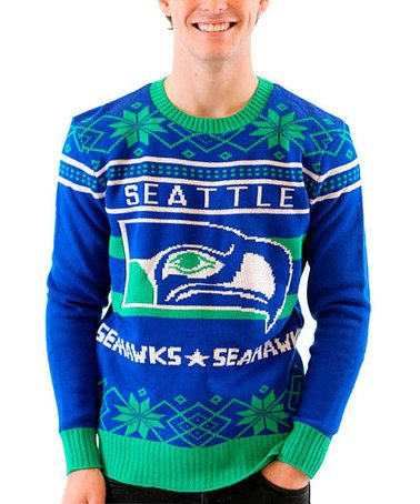 seattle seahawks ugly christmas sweater adult zulily zulilyfinds - Seahawks Christmas Sweater