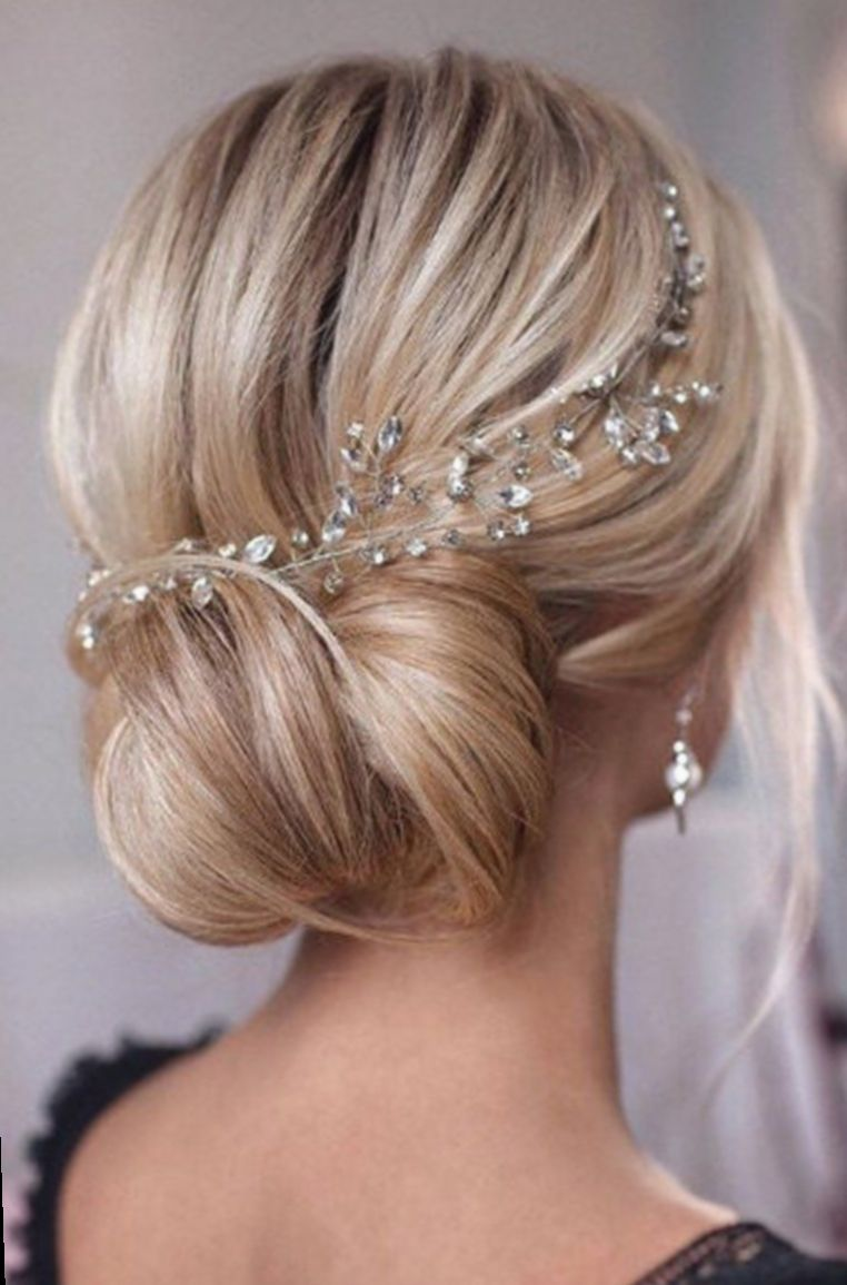 Pin By Beverley On Wedding In 2020 Blonde Wedding Hair Crystal