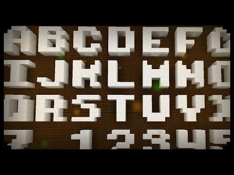 letters to numbers minecraft how to make 3x3 letters and numbers 1470