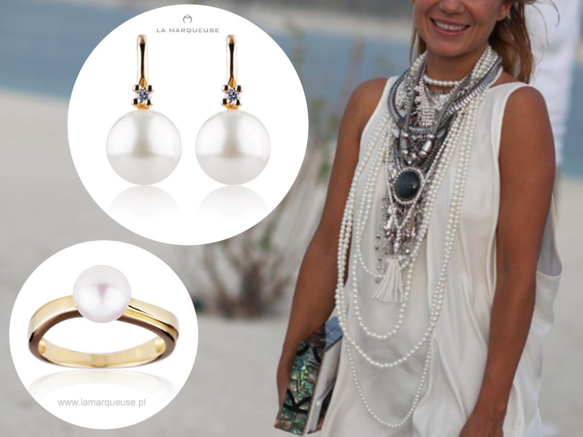 Podczas pokazu Chanel w Dubaju stylizacja z perłami prezentowała się jak zawsze pięknie:) Kochamy perły, dlatego nie brakuje ich w naszym salonie, także online ..: #perly #kolczyki #pierscionek #bizuteria #jewerly  #LaMarqueuse:...