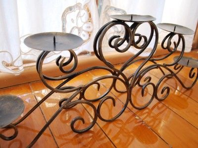 Details About Quality Iron Table Candle Holder Centrepiece 5