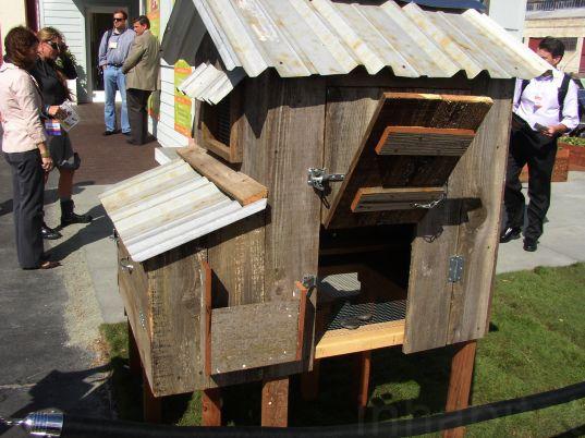 The Best Green Designs From West Coast Green Day 2 Chickens Backyard Chicken Coop Metal Chicken