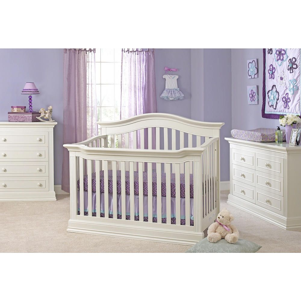 Crib in babies r us - Baby Cache Montana 4 In 1 Convertible Crib Glazed White