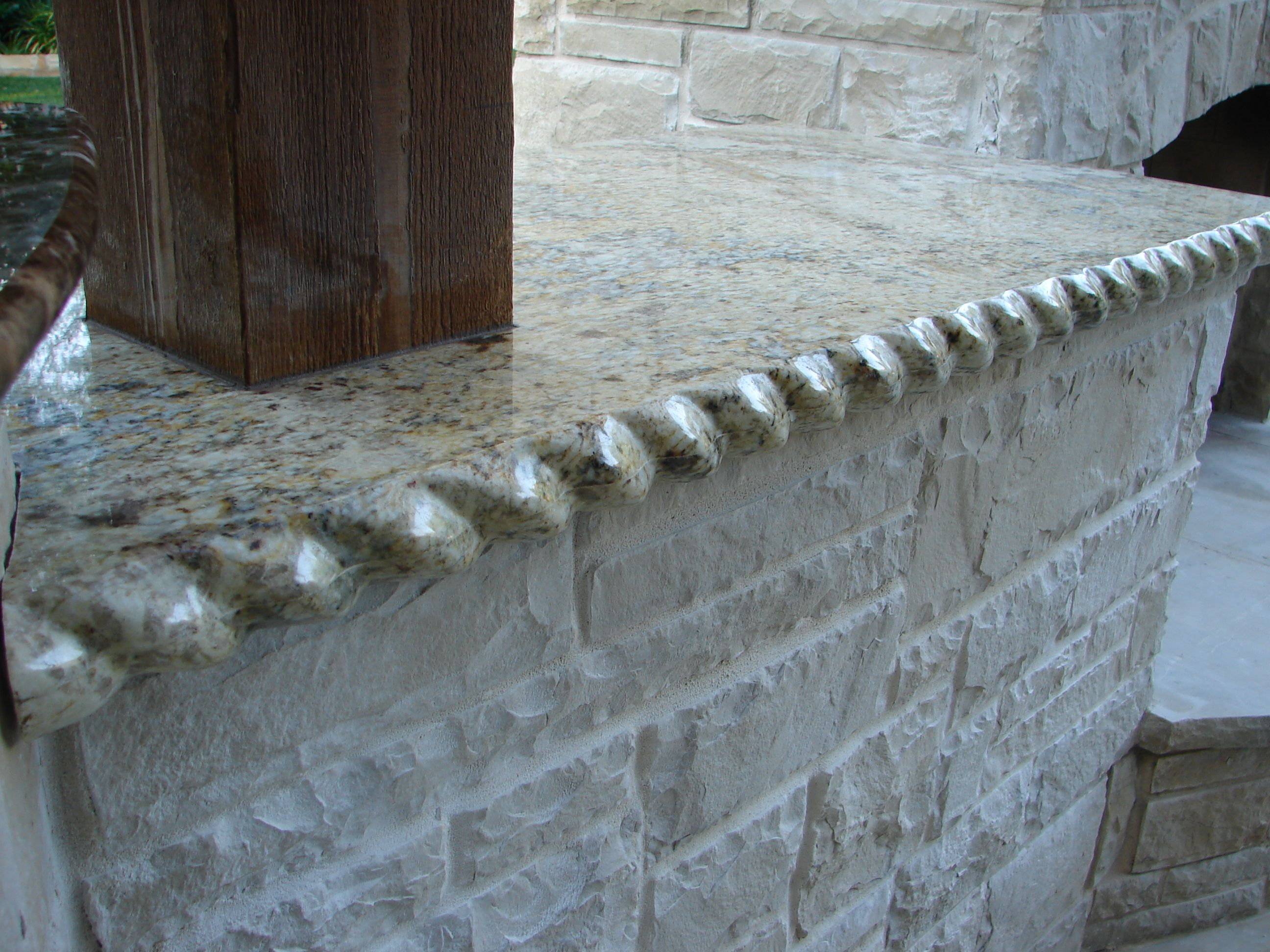 Rope Edge Or Rolled Granite Edge 6cm Laminated The Coolest Ever Granite Edges Granite Stone Tiles