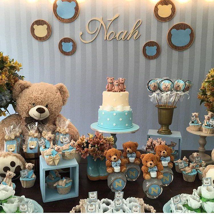 Teddy Bear Birthday · Shower Ideas · Bernardo · Ideas Para Fiestas · 761  Likes, 23 Comments   Festas De Luxo Oficial. (@festas_de_luxo) On