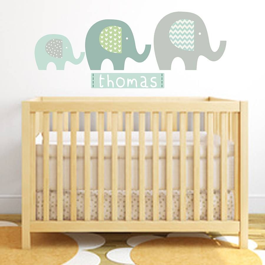 Elephant Name Fabric Wall Stickers | Festival Wall Stickers ...