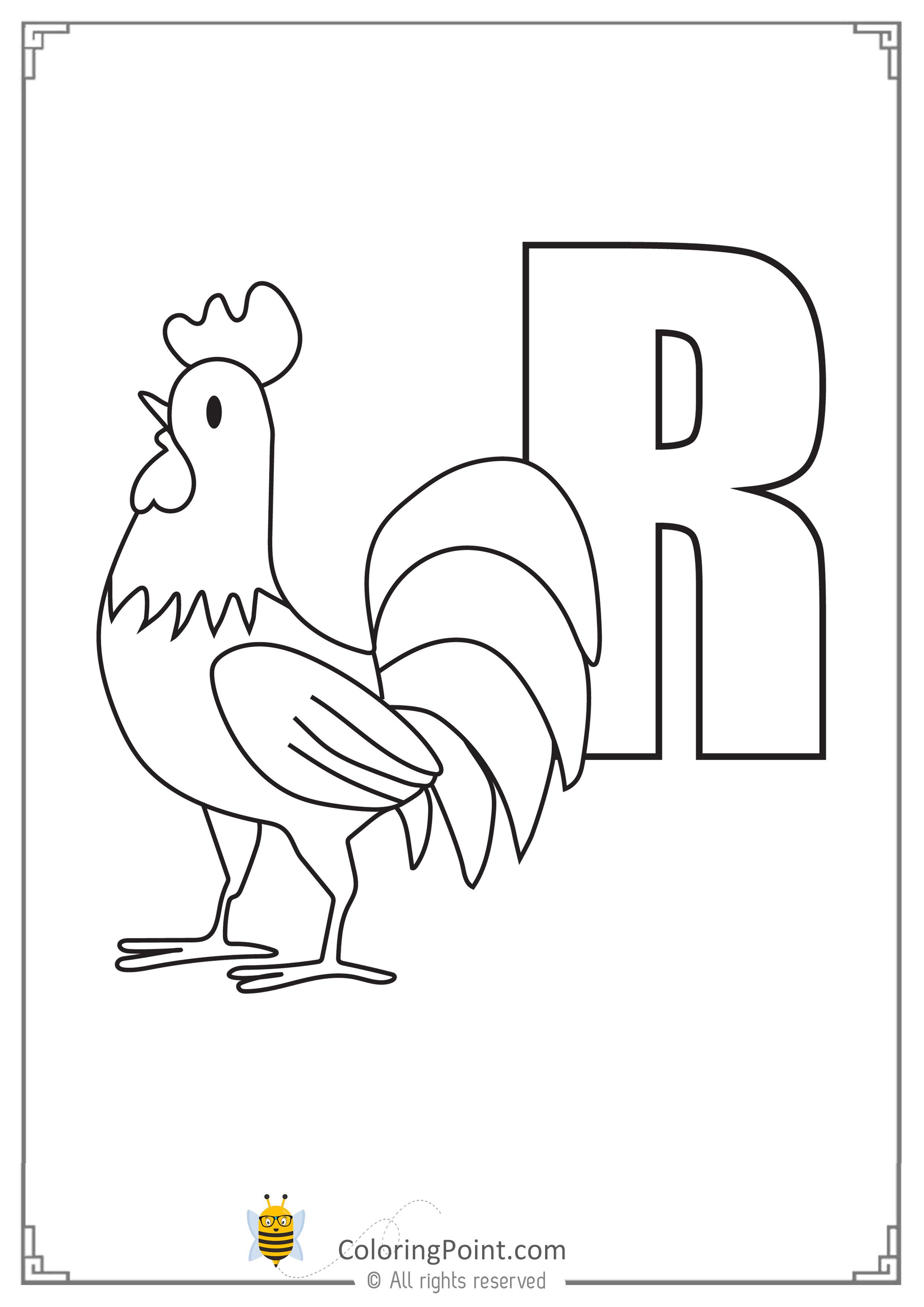 Alphabet Letter R Printable Activities Coloring Page