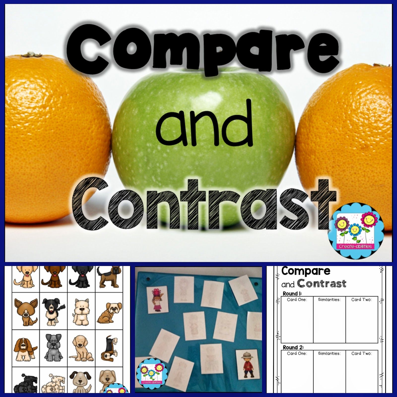 Free Game Included Compare And Contrast By Create