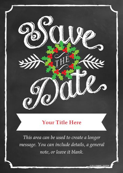 Christmas Save The Date Graphics.Chalkboard Christmas Save The Date Ecard 10 Designed