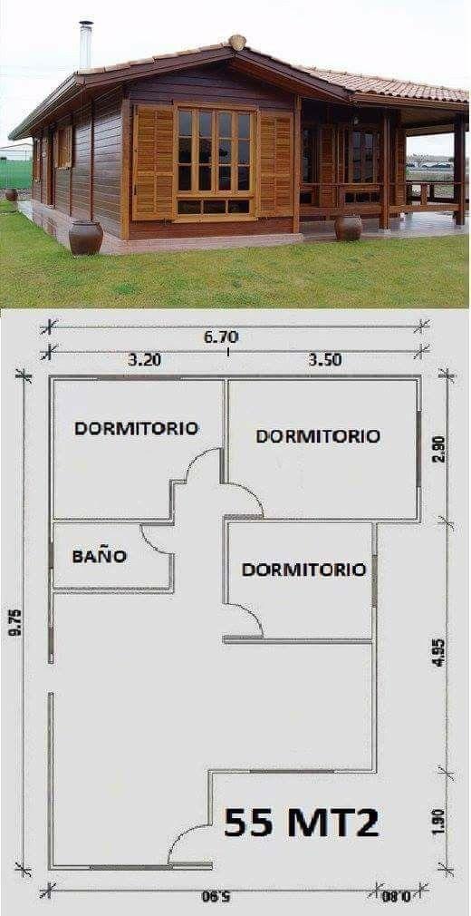 Pin de annabella herrera en casas pinterest casas plantas y madeira - Planos de casas de campo rusticas ...