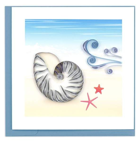 Quilled Nautilus Shell Card in 2020 (With images) | Cards ...