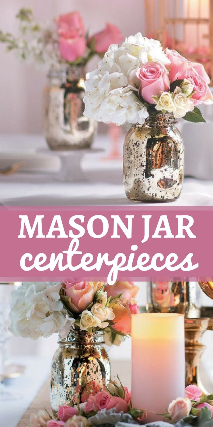 These gold mercury mason jars are perfect for wedding decorations ...