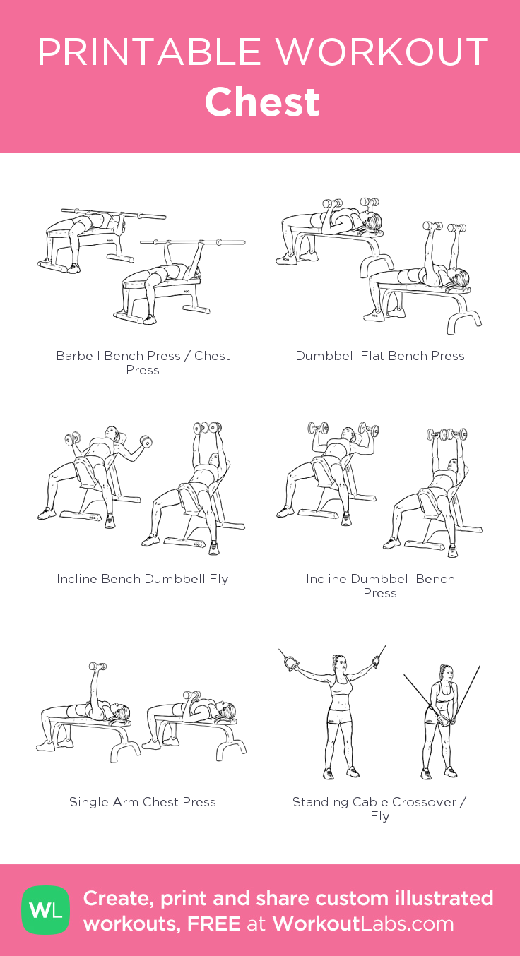 4 Week Workout Plan For Women Workout labs, Chest and