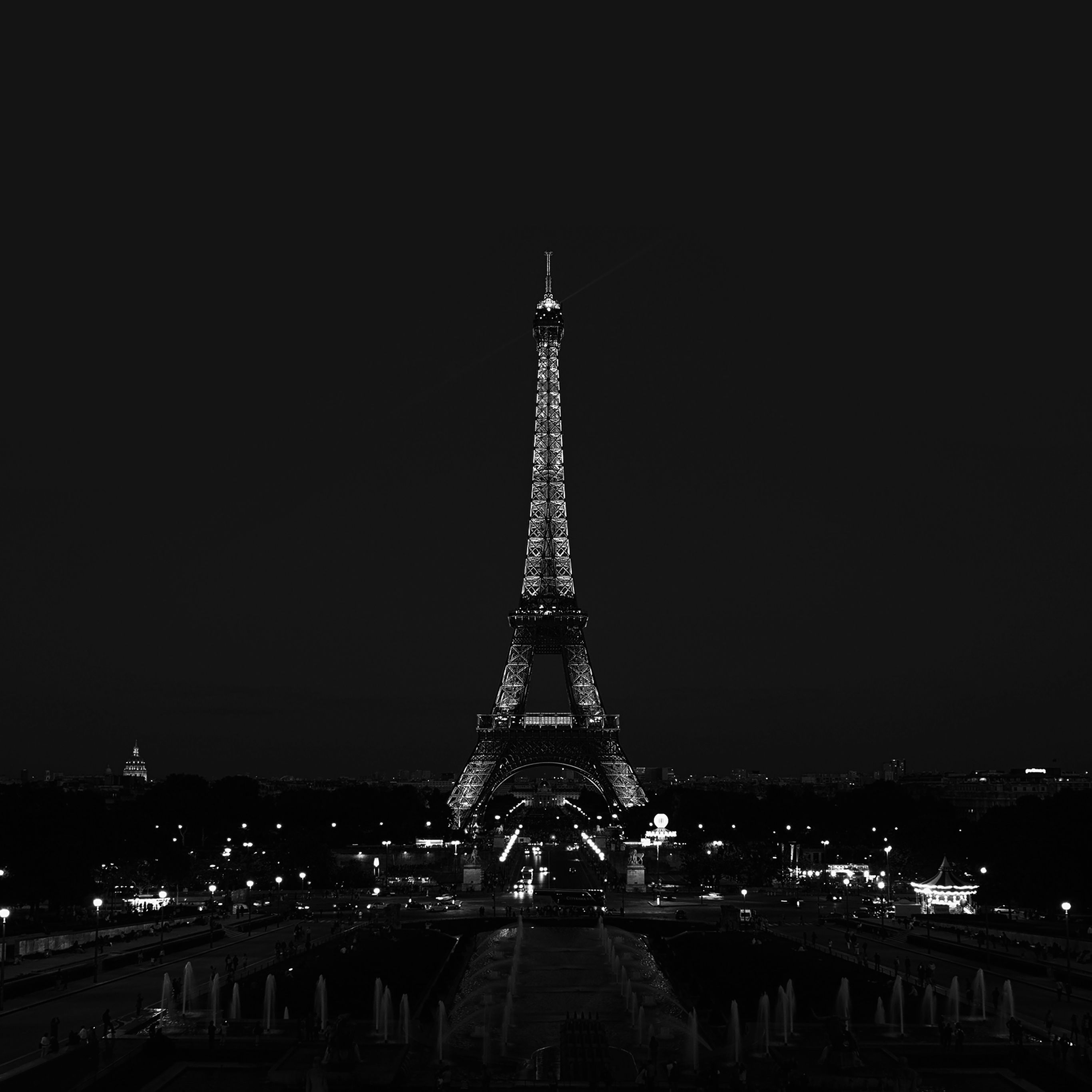 papers.co wallpaper papers.co-ml79-paris-night-france-city-bw-dark-eiffel-tower-40-wallpaper.jpg