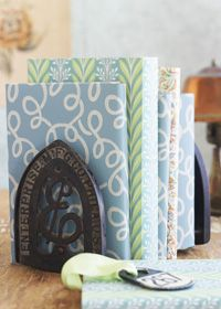 Repurpose vintage iron rests into attractive bookends:)