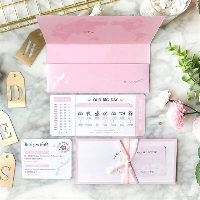 VIDEO] Airplane Ticket Wedding Invitations: A Must-Have For Any