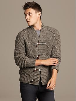 f56eedc4464392 Heritage Cable-Knit Toggle Cardigan | Things to Wear | Mens fashion ...