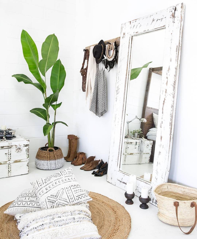 Miroir - Plante - Blanc - Coussin chambre tout en blanc #style ...