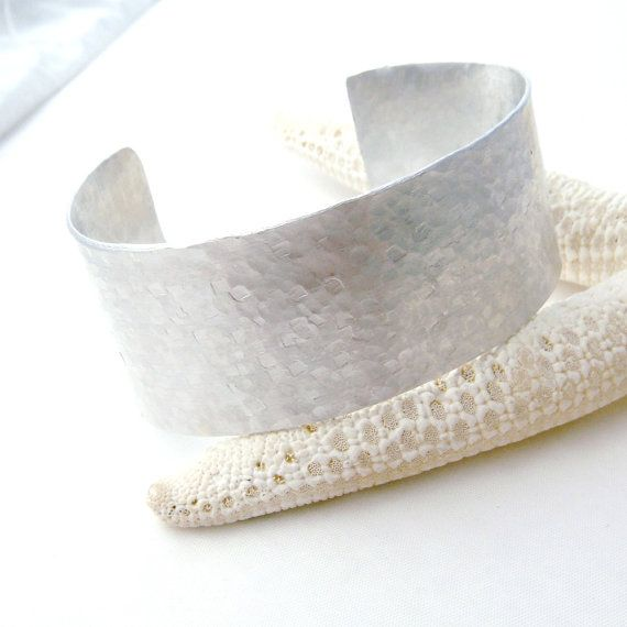 Silver Stainless Steel Cuff Bracelet Geometric by TraceDesigns, $27.00