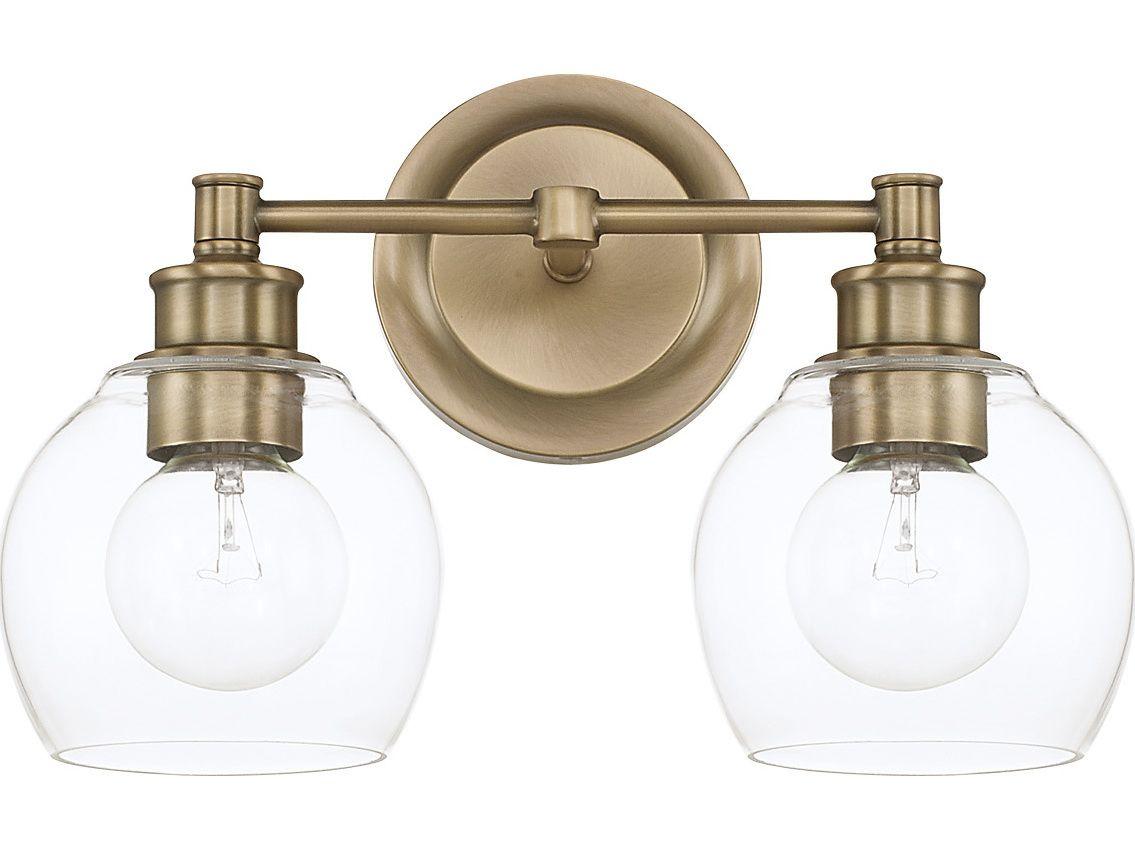 Pullman Bath Light 2 Light Industrial Bathroom Lighting Bathroom Lighting Bath Light