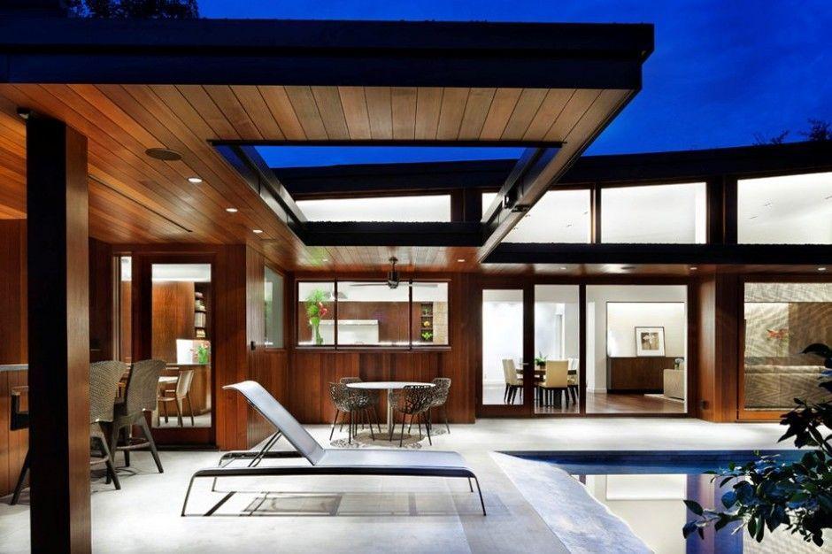 Diseño de casa moderna en piedra y madera Casas XL Pinterest - fachada madera