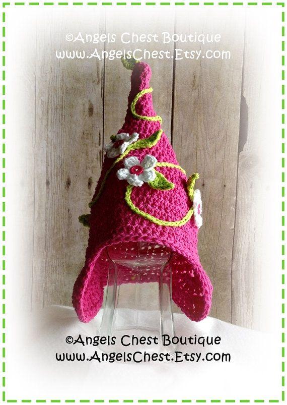 93450207f76 Crochet GARDEN GNOME Hat PDF Pattern Sizes Newborn to Adult Boutique ...