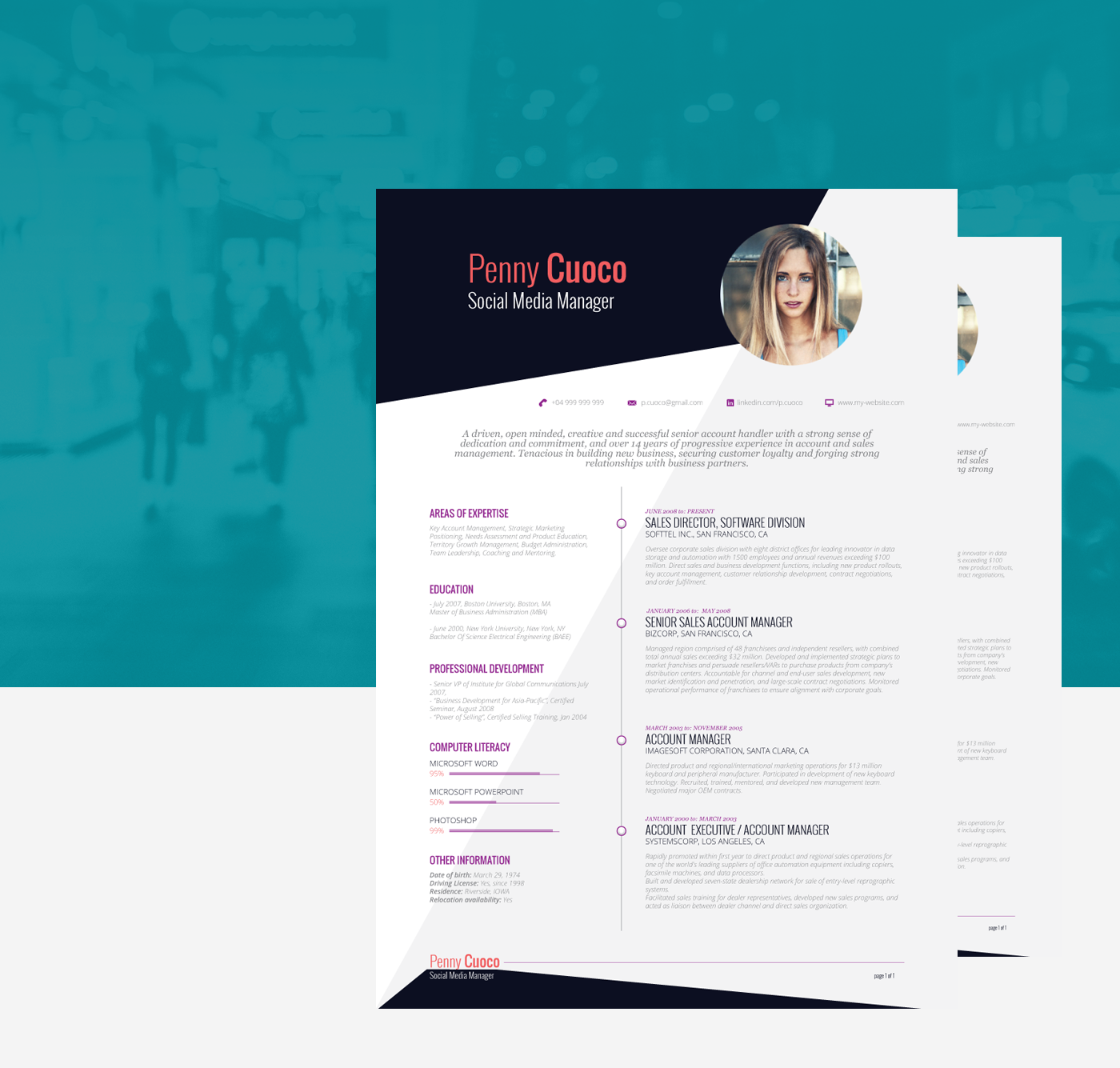 FREE Resume Template Frases