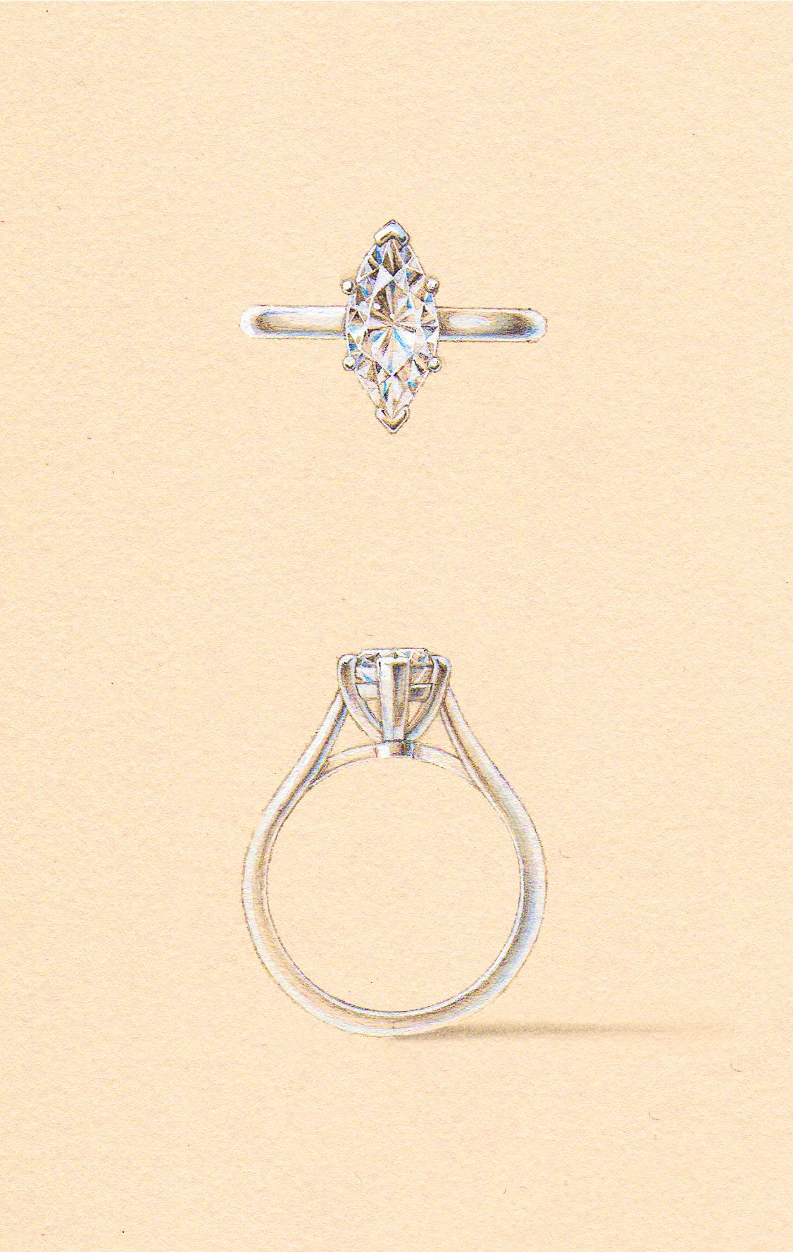 The Vega Setting Naveya Sloane Engagement Ring Made To Order In
