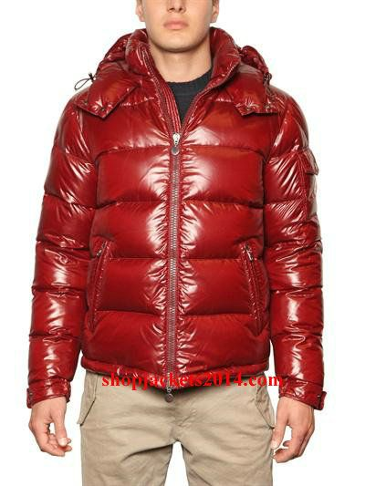 Moncler Outlet UK Maya Mens Down Jackets Matte Red